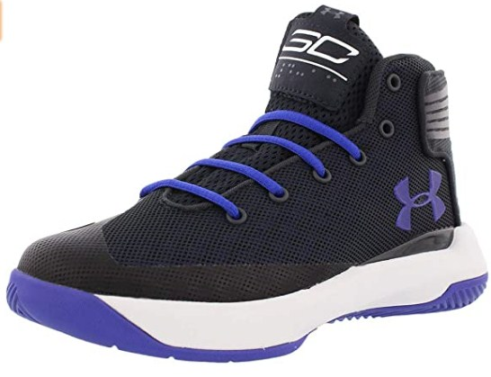 Under Armour Kids Boy's UA PS Curry 3ZERO Basketball (Little Kid) Anthracite 12 M US Little Kid